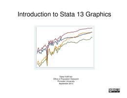 Introduction to Stata 13 Graphics - Office of Population Research