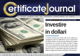 Investire in dollari - Certificate Journal