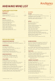 ANDIAMO WINE LIST - Documents