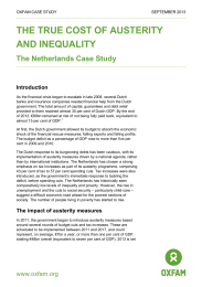 The true cost of austerity and inequality: The Netherlands case study
