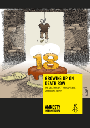 growing up on death row - Amnesty International USA