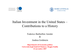Italian Investment in the United States