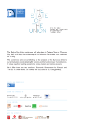 The State of the Union conference will take place in Palazzo