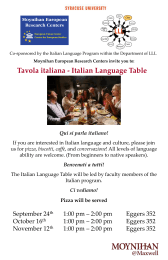 Tavola italiana - Italian Language Table