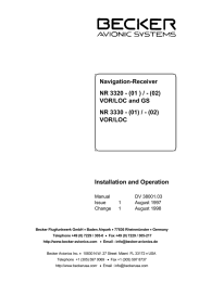 NR3320-Installation And Operation