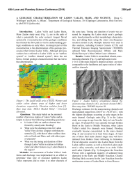 A GEOLOGIC CHARACTERIZATION OF LADON VALLES, MARS