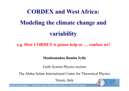 CORDEX and West Africa: Modeling the climate change