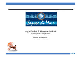 sapore di mare - Private Equity Monitor