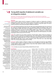 Young adult sequelae of adolescent cannabis use: an integrative