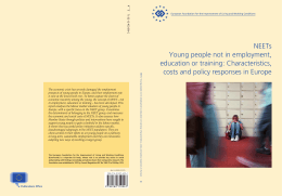 NEETs Young people not in employment, education or