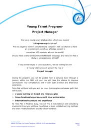 Young Talent Program- Project Manager