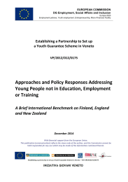 Approaches and Policy Responses Addressing Young People not in
