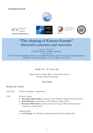 """The shaping of Eastern Europe"""