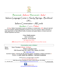 Benvenuti in Italia! Italiano Language Center in Sandy Springs