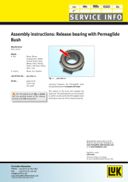 Assembly instructions: Release bearing with Permaglide Bush