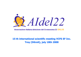 15 th international scientific meeting VCFS EF Inc. Troy (Ditroit), july