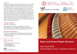 Music and Human Rights Seminars, Padova, April