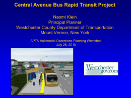 Central Avenue Bus Rapid Transit Project