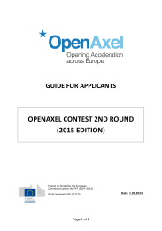 OPENAXEL CONTEST 2ND ROUND (2015 EDITION)