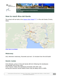 How to reach Riva del Garda
