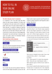 how to fill in your online study plan
