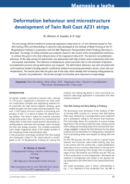 Magnesio e leghe Deformation behaviour and microstructure