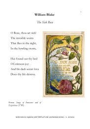 William Blake The Sick Rose - GENDER STUDIES e letteratura