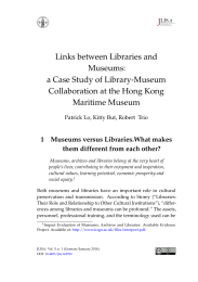 Links between Libraries and Museums: a Case Study of