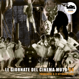 Catalogo Giornate del Cinema Muto 2015