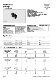 Reed Relays Type CM Monostable