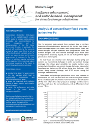 Analysis of extraordinary flood events in the river Po