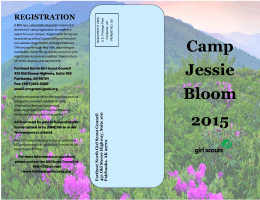 Camp Jessie Bloom 2015 REGISTRATION