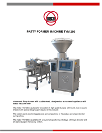 patty former machine tvm 260
