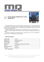 Name: Serial Adapter RS232/TTL 3-5,5V