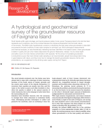 A hydrological and geochemical survey of the groundwater