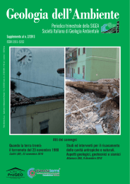 Supplemento a Geologia dell`Ambiente