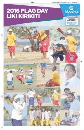samoa news, Thursday, February 25, 2016 Page B1