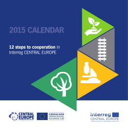 12 steps to cooperation in Interreg CENTRAL EUROPE