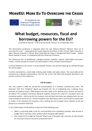 What budget, resources, fiscal and borrowing powers for the EU?
