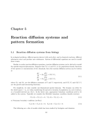 Chapter 5: Reaction diffusion systems