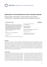 Applications of three-dimensional carbon - Beilstein