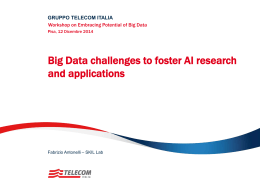 Big Data challenges to foster AI research and applications