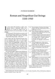 Roman and Neapolitan Gut Strings 1550-1950