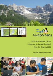 2015 International Edition S. Lorenzo in Banale - WebValley