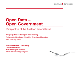 Open Data - Open Government