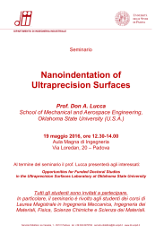 Nanoindentation of Ultraprecision Surfaces - CDII