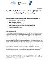 Flexibilities in the National Emission Ceilings (NEC) Directive