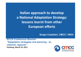 Italian approach to develop a National Adaptation Strategy: lessons