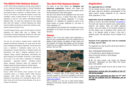 The GRICU PhD National School The 2015 PhD National