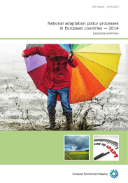National adaptation policy processes across European countries